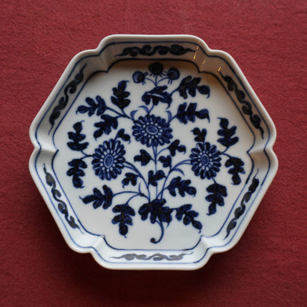 Hexagonal Porcelain Tea Tray