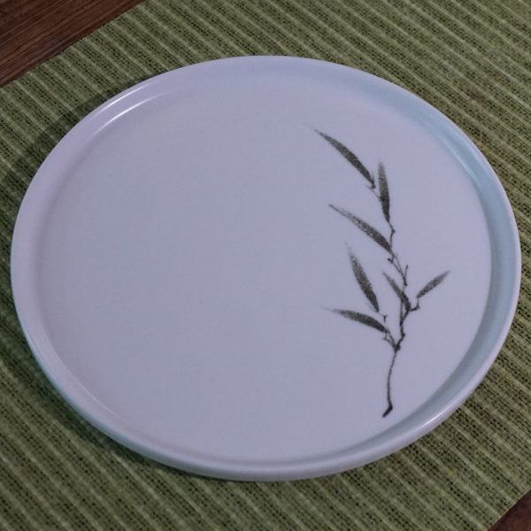 Bamboo Motive Porcelain Tea Tray