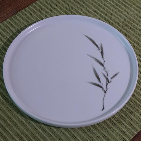 Bamboo Motive Porcelain Tea Tray