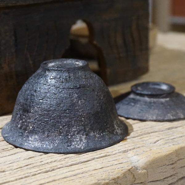 Dark Coarse Pottery Gaiwan